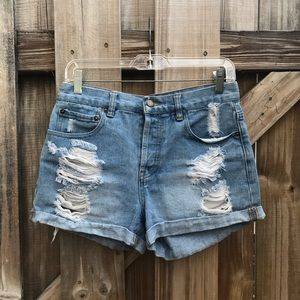 Forever 21 Ripped/Distressed Denim Shorts